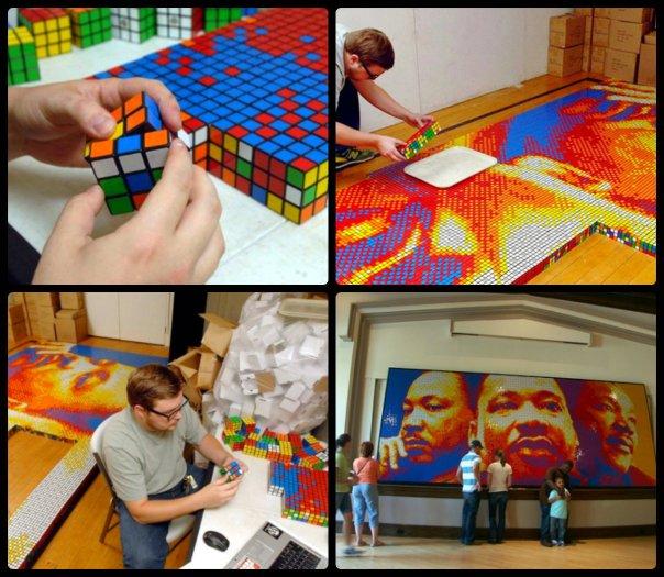 Pete Fecteau Rubik's Cube Art